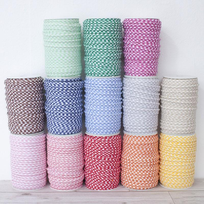 Medium Gingham Piping Bias Binding All