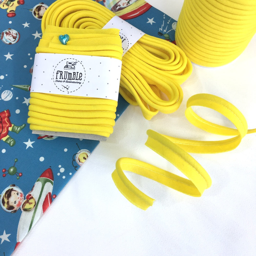 SAMPLES: Medium Plus Piping (Select 5 colours for £1.50) - Frumble Fabrics