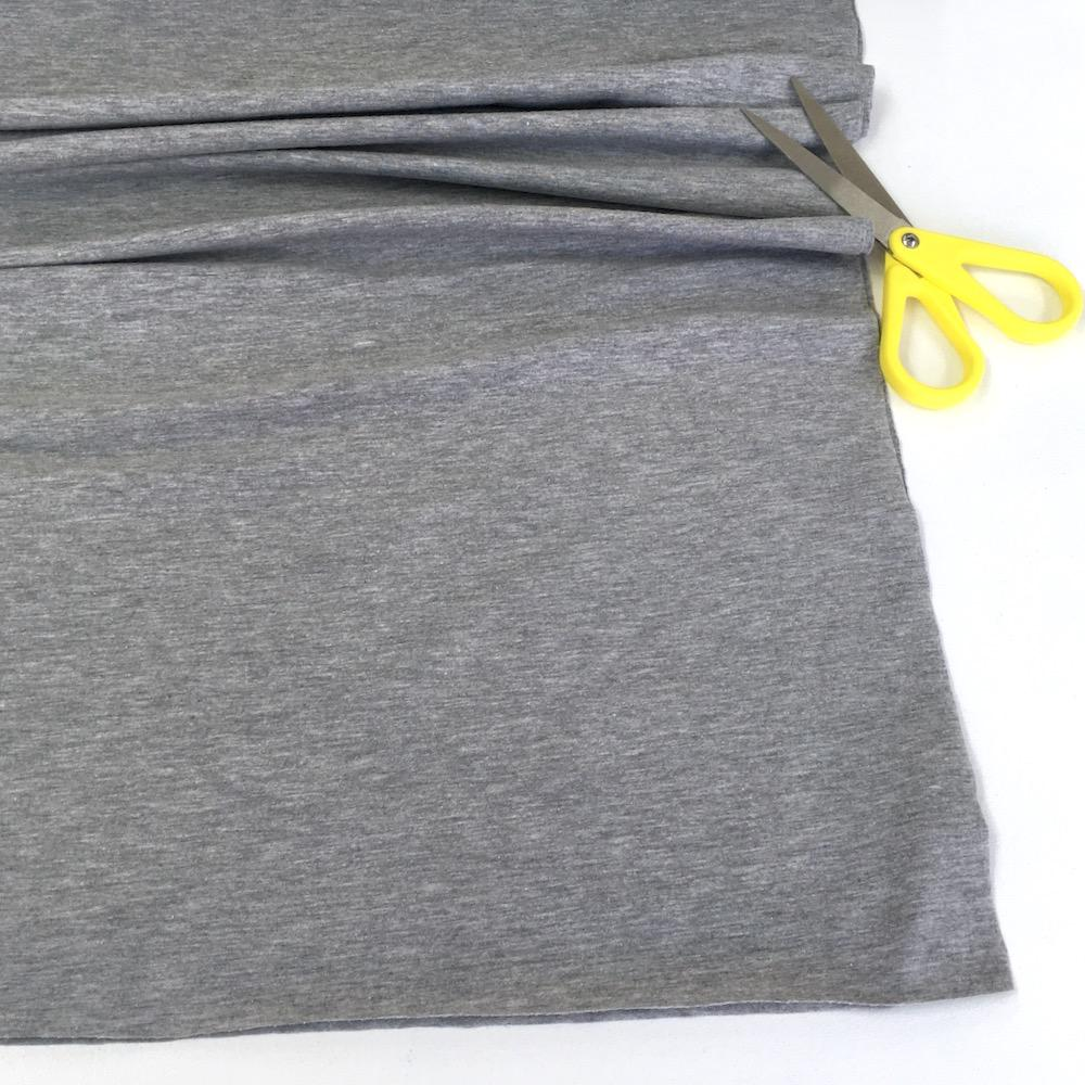 Melange Jersey Solids - Marl Cotton Knit - Light Grey Sewing and Dressmaking Fabric