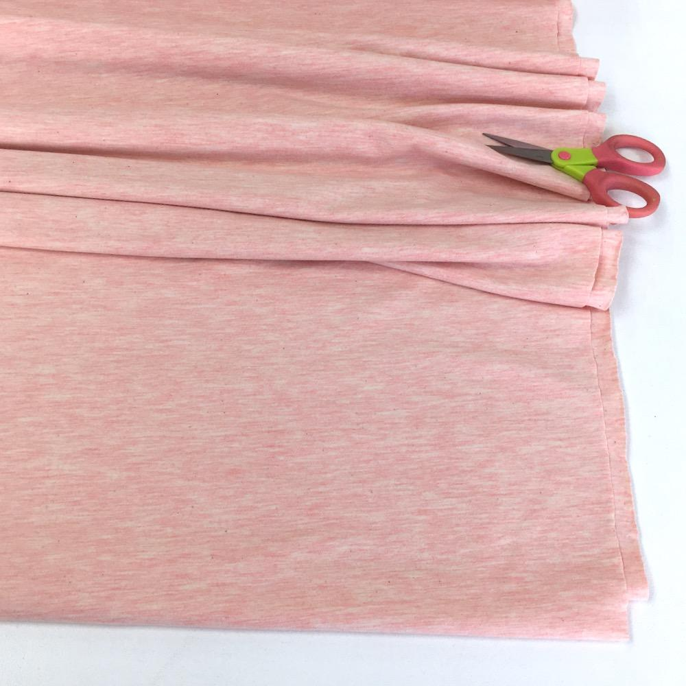 Melange Jersey Solids - Marl Cotton Knit - Pink Sewing and Dressmaking Fabric
