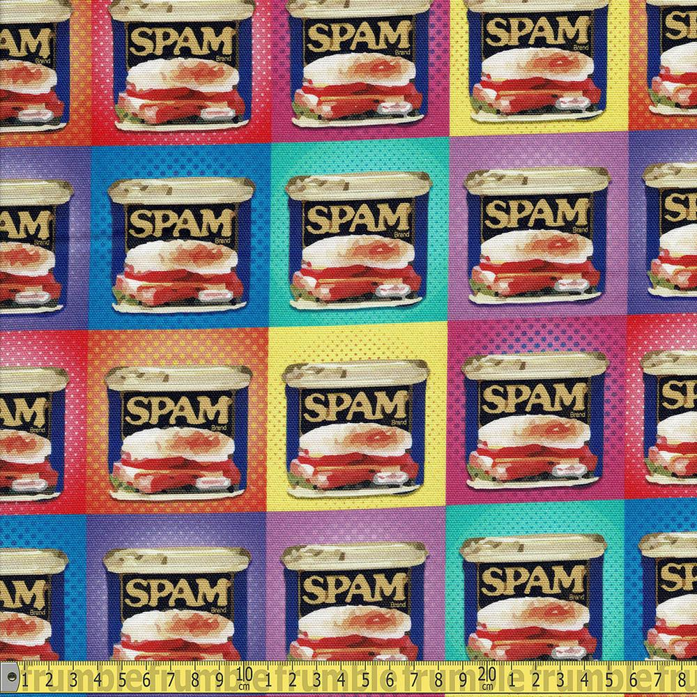 Canvas Spam Pop Art Cotton Duck Multi - Frumble Fabrics