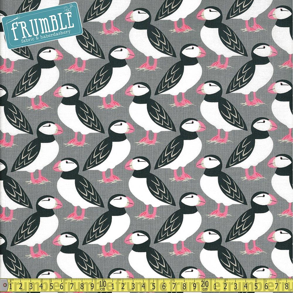 Puffin Perch Stone - Frumble Fabrics