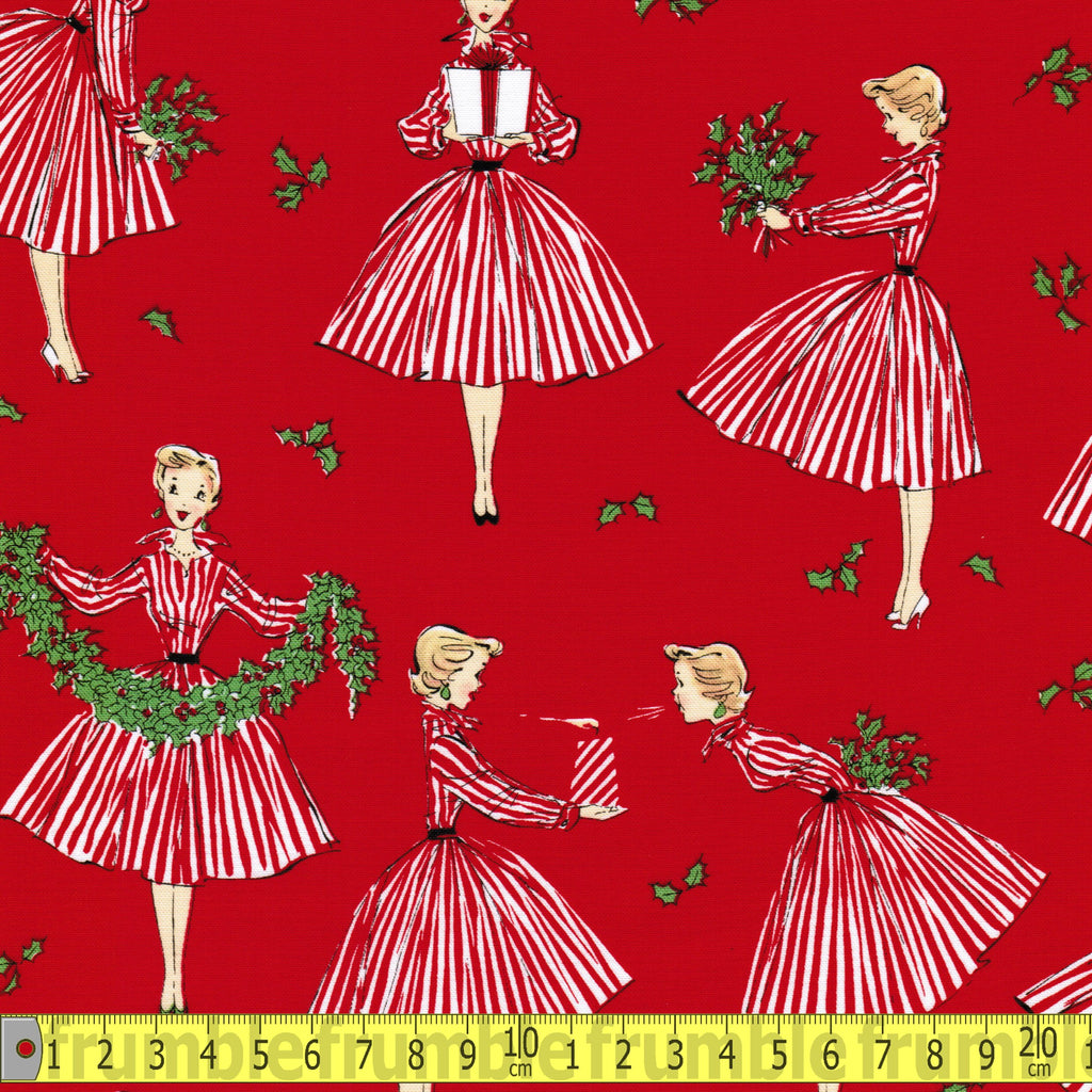 Holiday Hostess Red Fabric by Michael Miller