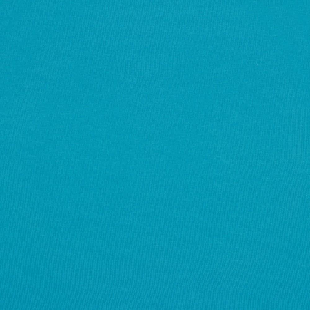 Organic Jersey Solids - GOTS Cotton Knit - Turquoise Sewing and Dressmaking Fabric