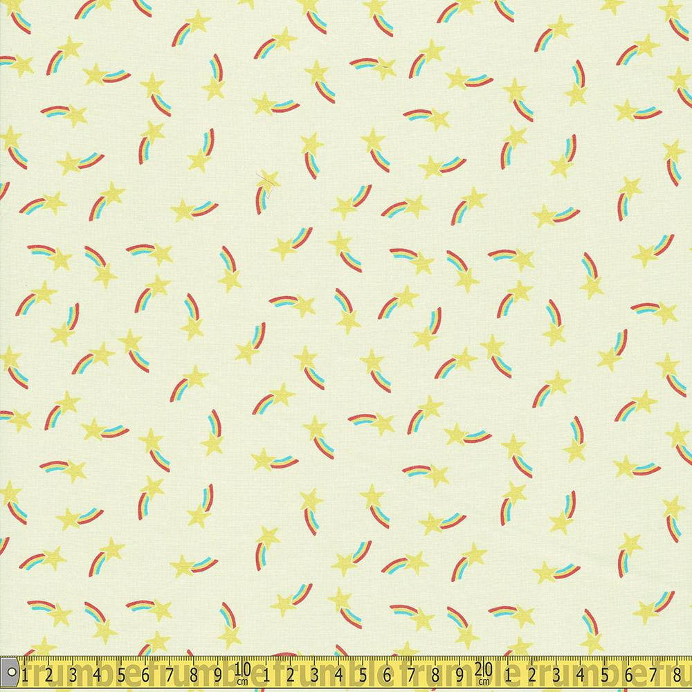 Paintbrush Studio - Let The Good Times Roll - Ranbow Star Sewing and Dressmaking Fabric