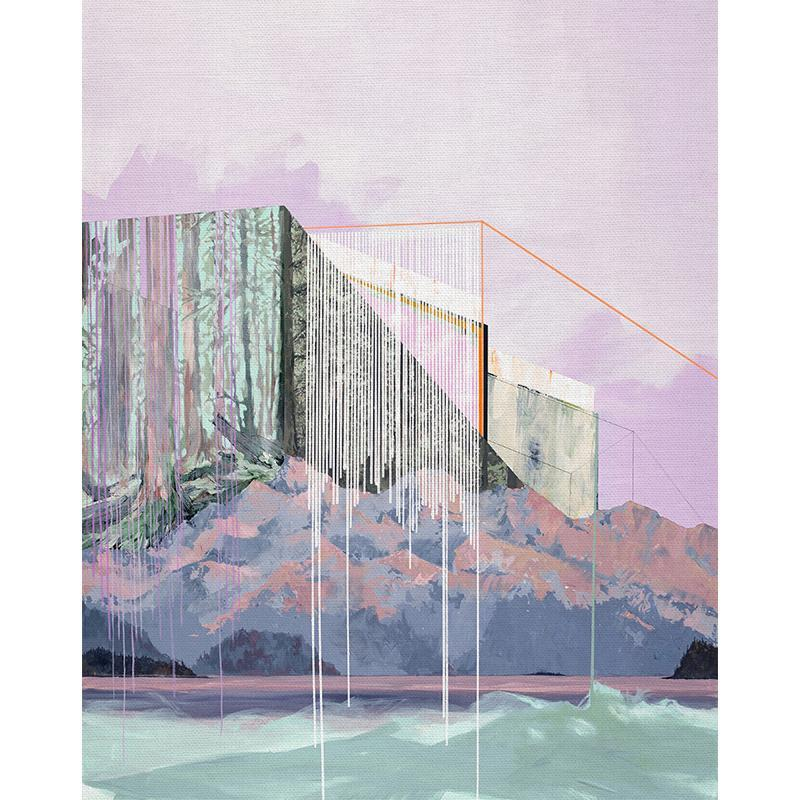 Paintbrush Studio - Modern Landscapes 81cm Panel - Phantom Limb Sewing Fabric