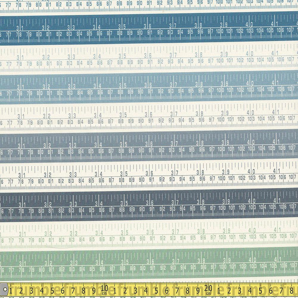 Paintbrush Studio - Sewing Mood - Rulers Cool Sewing Fabric