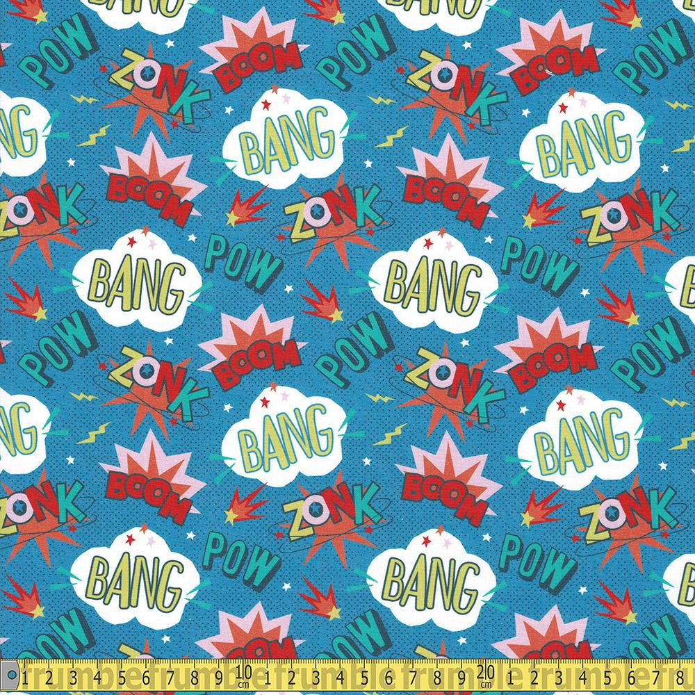 Paintbrush Studio - Super Dinos - Words Multi Sewing and Dressmaking Fabric