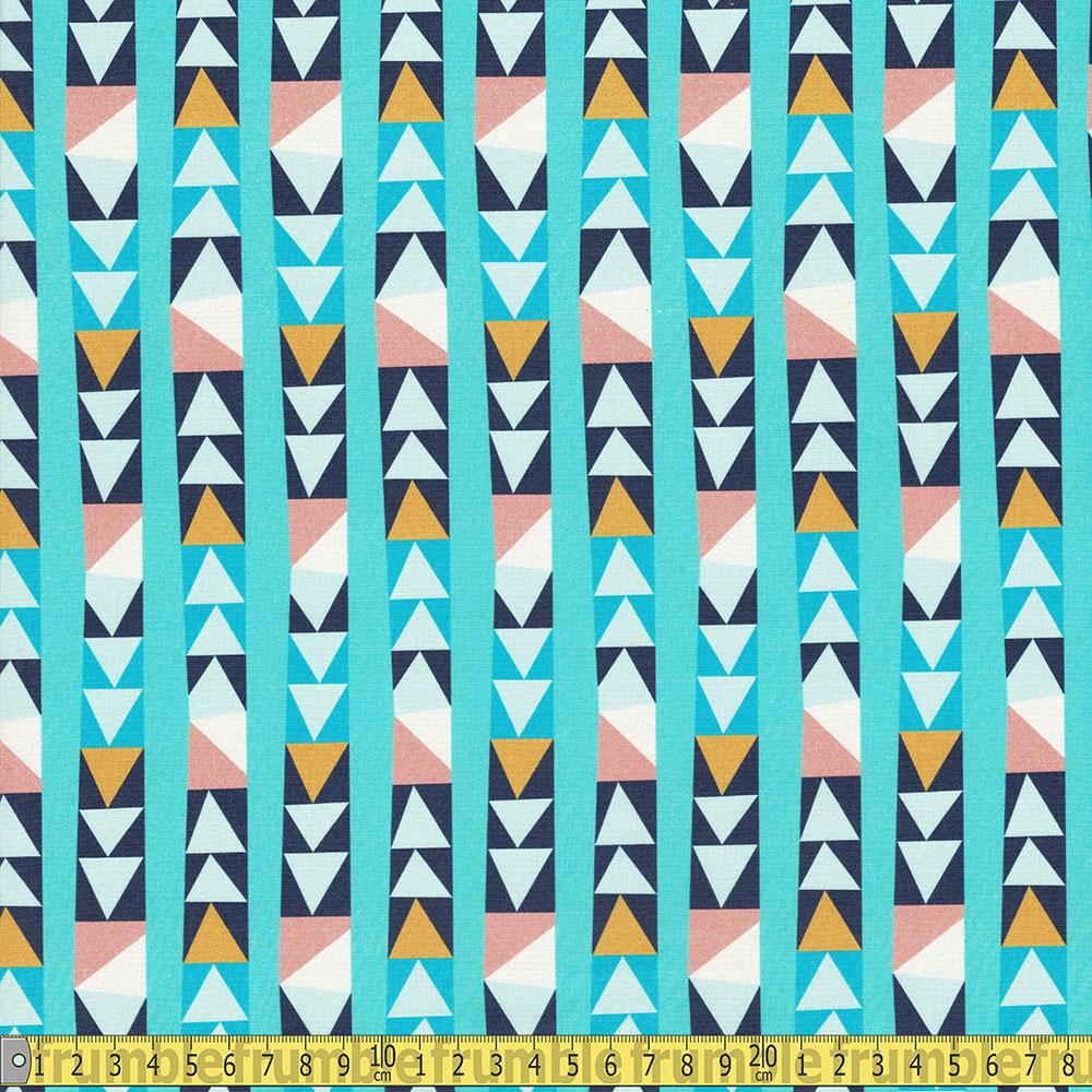 Paintbrush Studio - Wonder - Arrow Blocks Blue Sewing Fabric