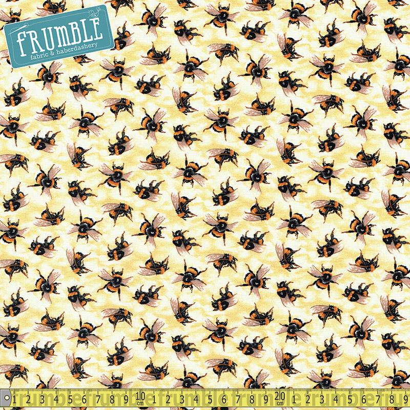 You Bug Me Bees Yellow Fabric by Paintbrush Studio