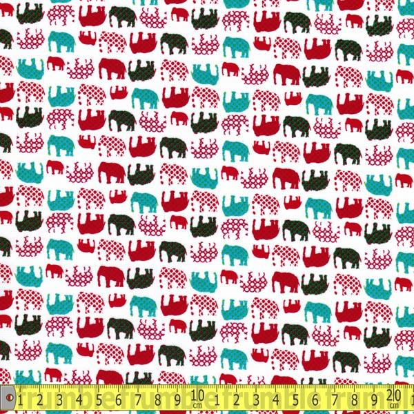 Nelly Elephant White (Per Metre) - Frumble Fabrics