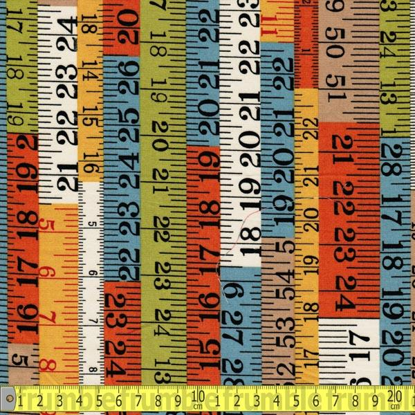 Tape Measure Vintage Autumn Fabric by Various