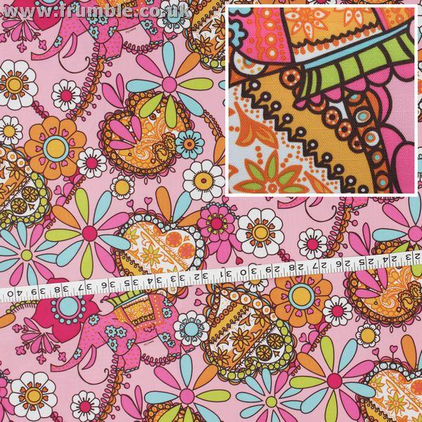 Beautiful Elephants Fabric by Various