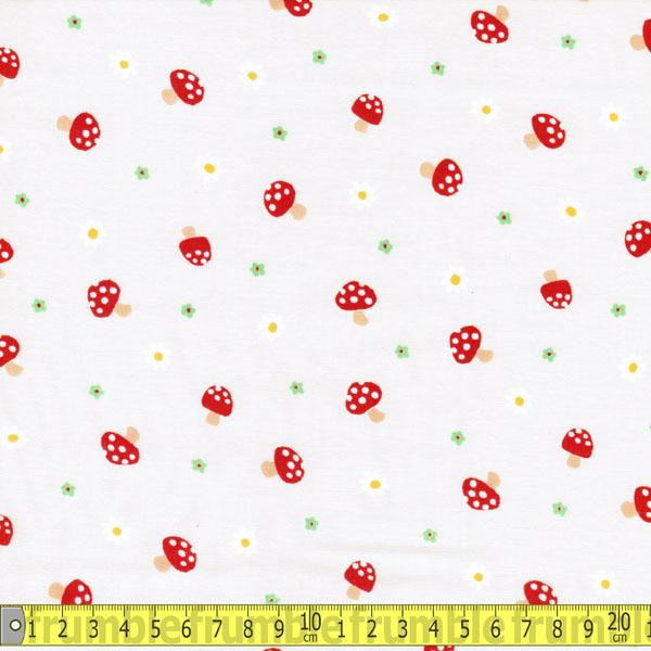 Tick Tack Mushroom Cream Fabric by Quilt Gate
