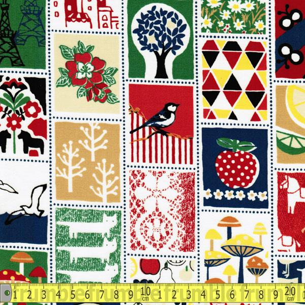 Tick Tack Tile Red - Frumble Fabrics