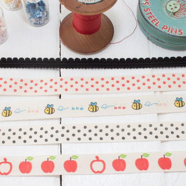 Ribbon Pack - Apple Dot Polka - Frumble Fabrics