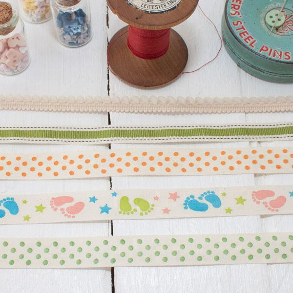 Ribbon Pack - Baby Steps Polka Dot - Frumble Fabrics