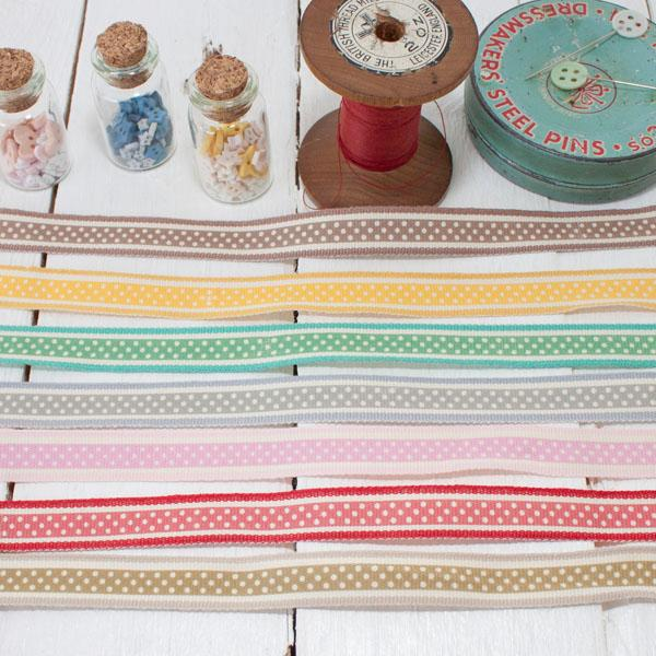 Ribbon Pack - Bright Dotty Stripe - Frumble Fabrics