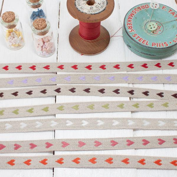 Ribbon Pack - Linen Hearts