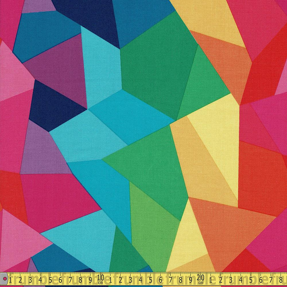 Riley Blake - Create - Rainbow Abstract Rainbow Patchwork Sewing and Dressmaking Fabric