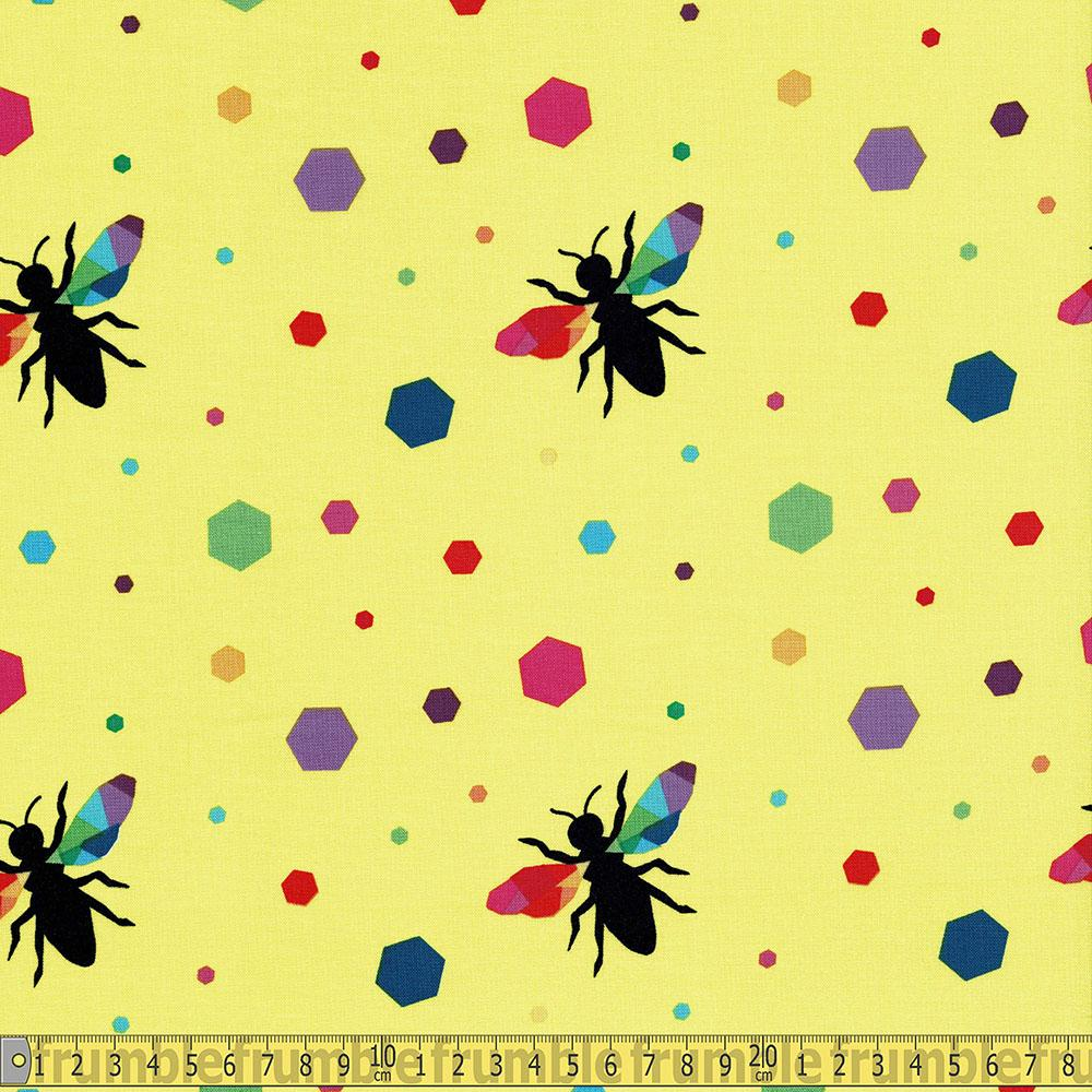 Riley Blake - Create - Rainbow Bumblebee Yellow Sewing and Dressmaking Fabric