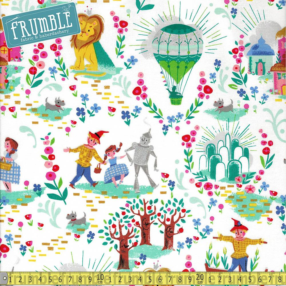 Dorothys Journey Main White Sparkle - Frumble Fabrics