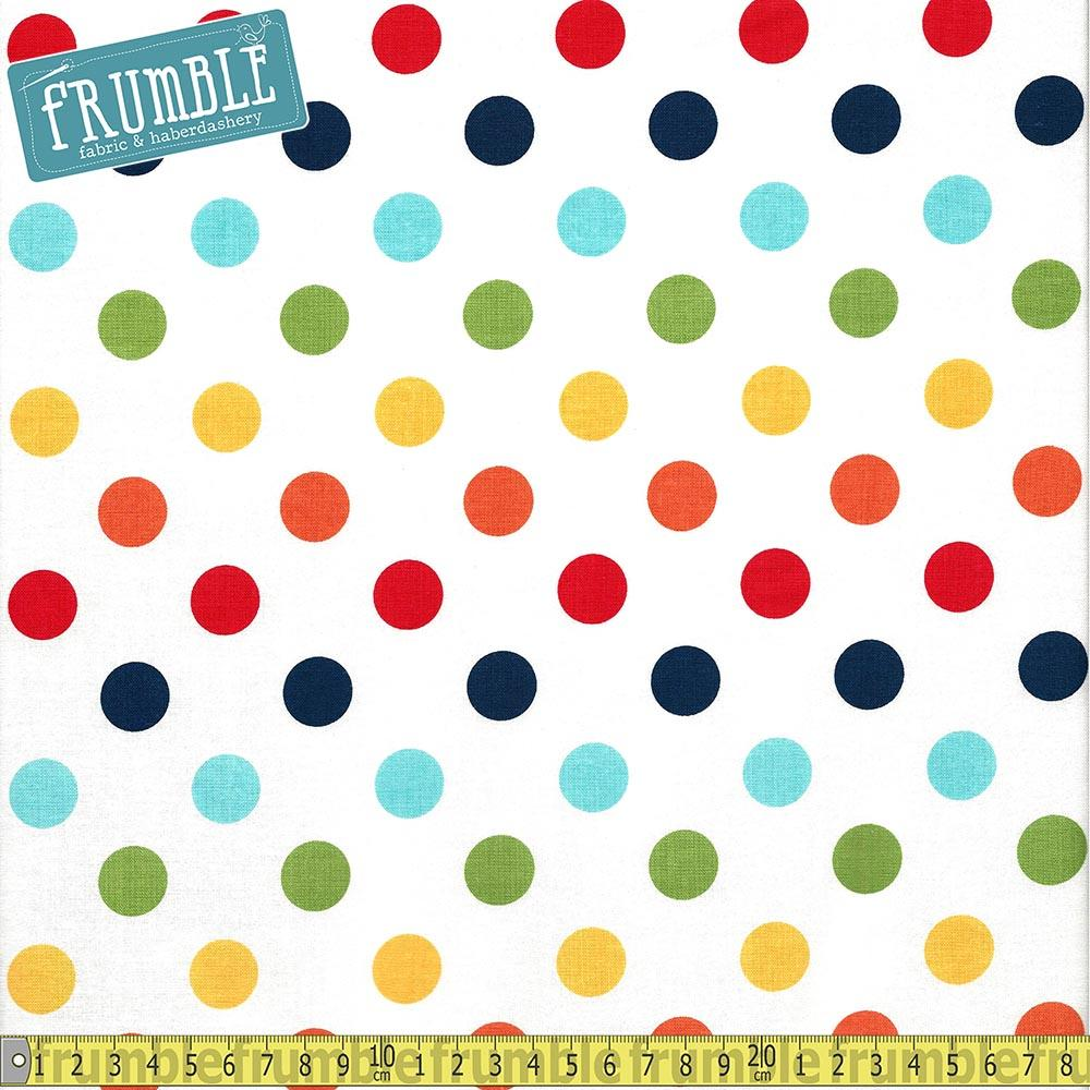 Medium Dots Rainbow - Frumble Fabrics