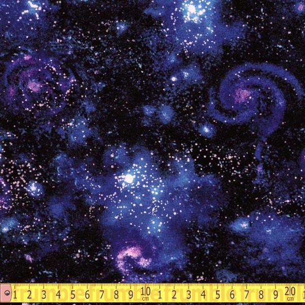 Stargazers Galaxy Nightfall Fabric by Robert Kaufman