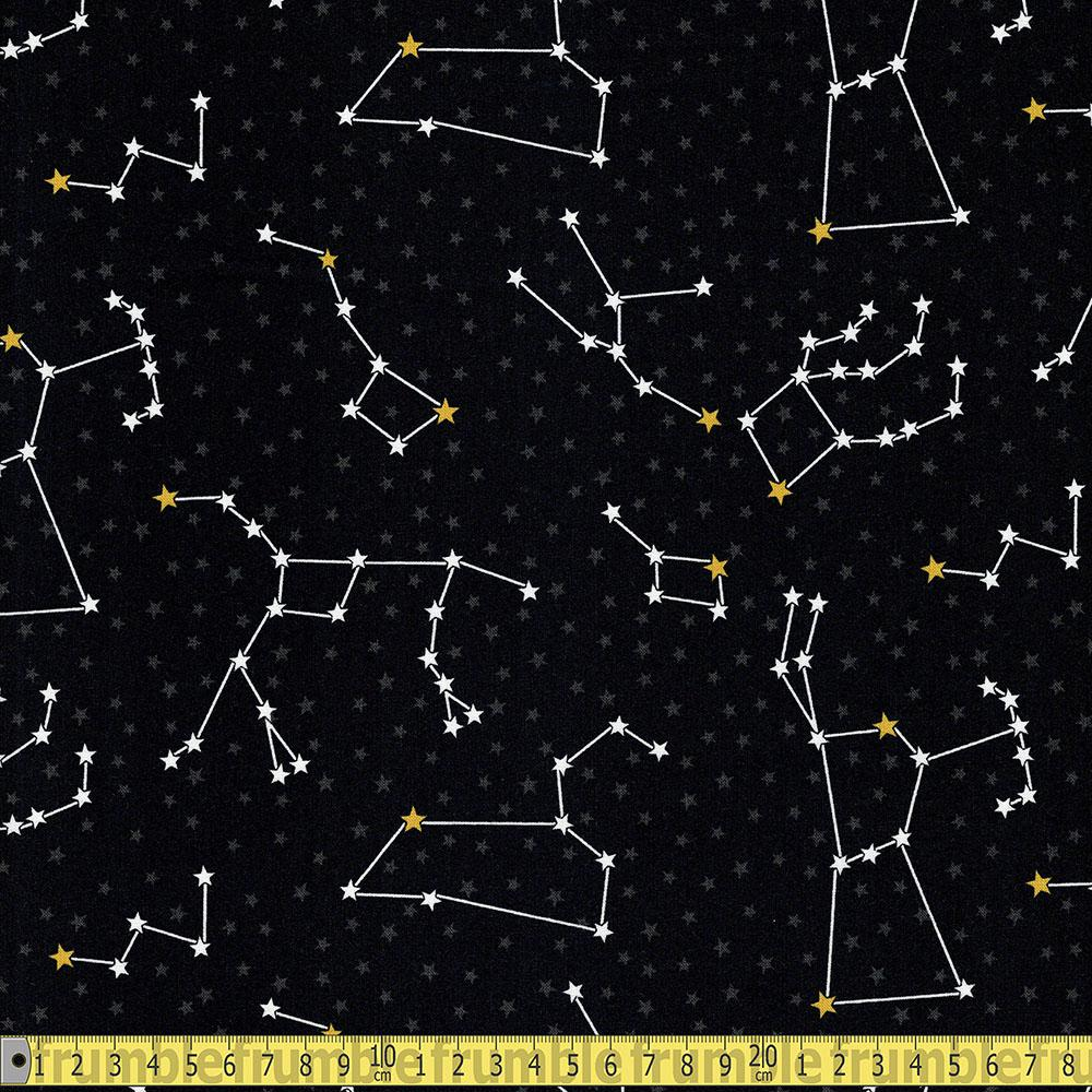 Robert Kaufman - Dino-soar - Constellations Black Sewing Fabric
