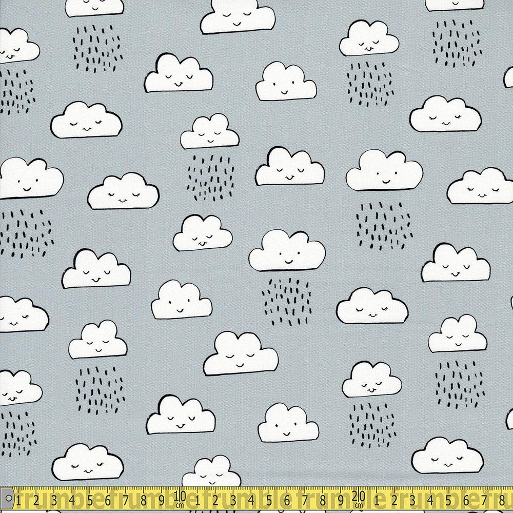 Robert Kaufman - Neighborhood Pals - Clouds Grey Sewing Fabric