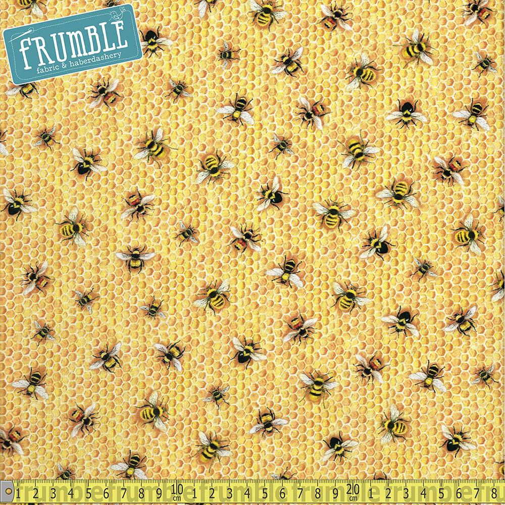 Everyday Favourites Honeycomb Bees - Frumble Fabrics