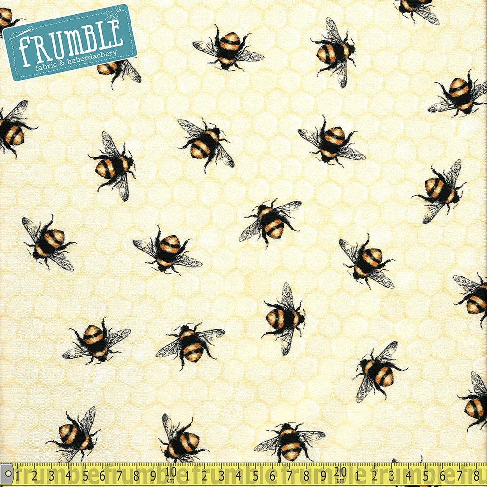 Everyday Favourites Large Bumble Bees Honey - Frumble Fabrics