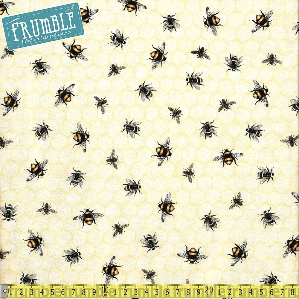 Everyday Favourites Med Mixed Bees Honey - Frumble Fabrics