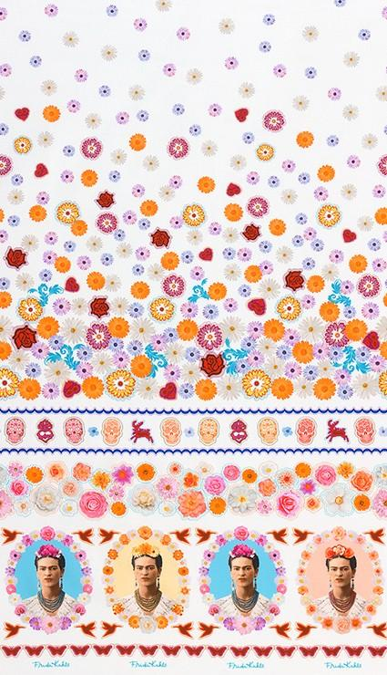 Frida Kahlo Border White - Frumble Fabrics
