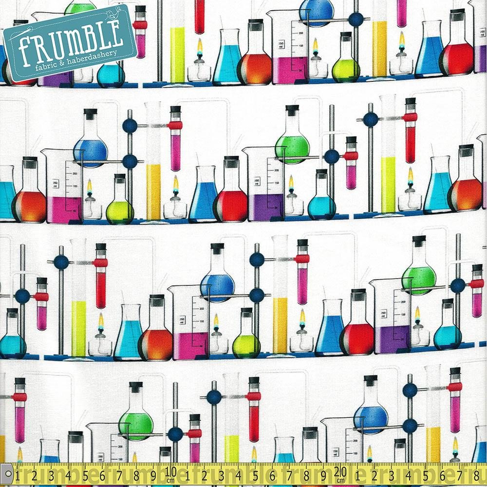 Science Fair 3 Bright Idea Test Tubes White - Frumble Fabrics