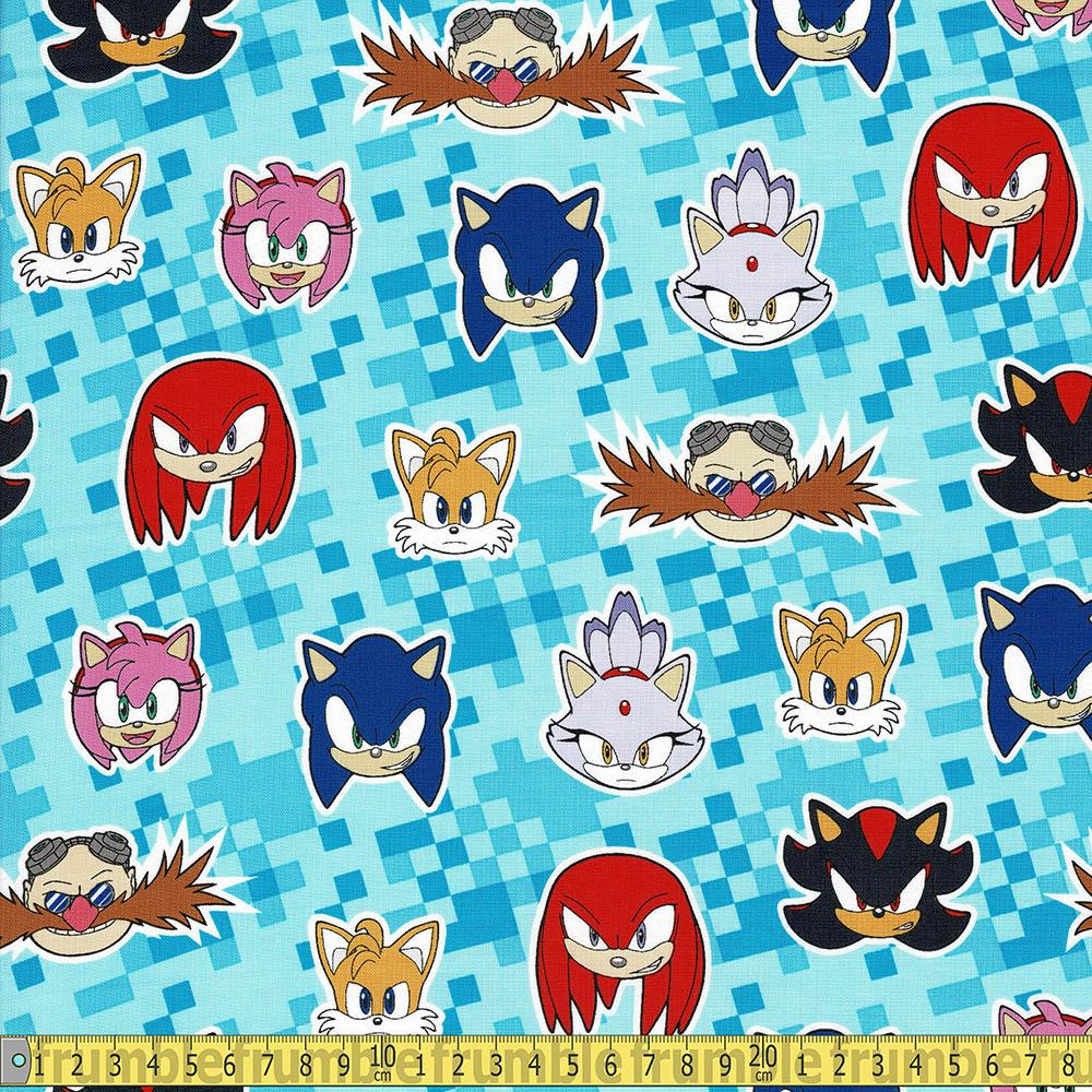 Sonic The Hedgehog All Characters Blue - Frumble Fabrics