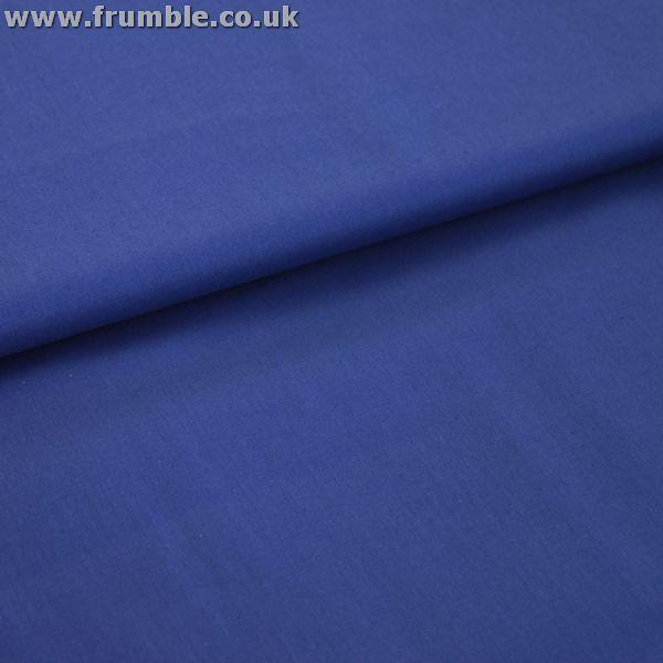 Plain Mid Weight Cotton in Royal Blue - Frumble Fabrics