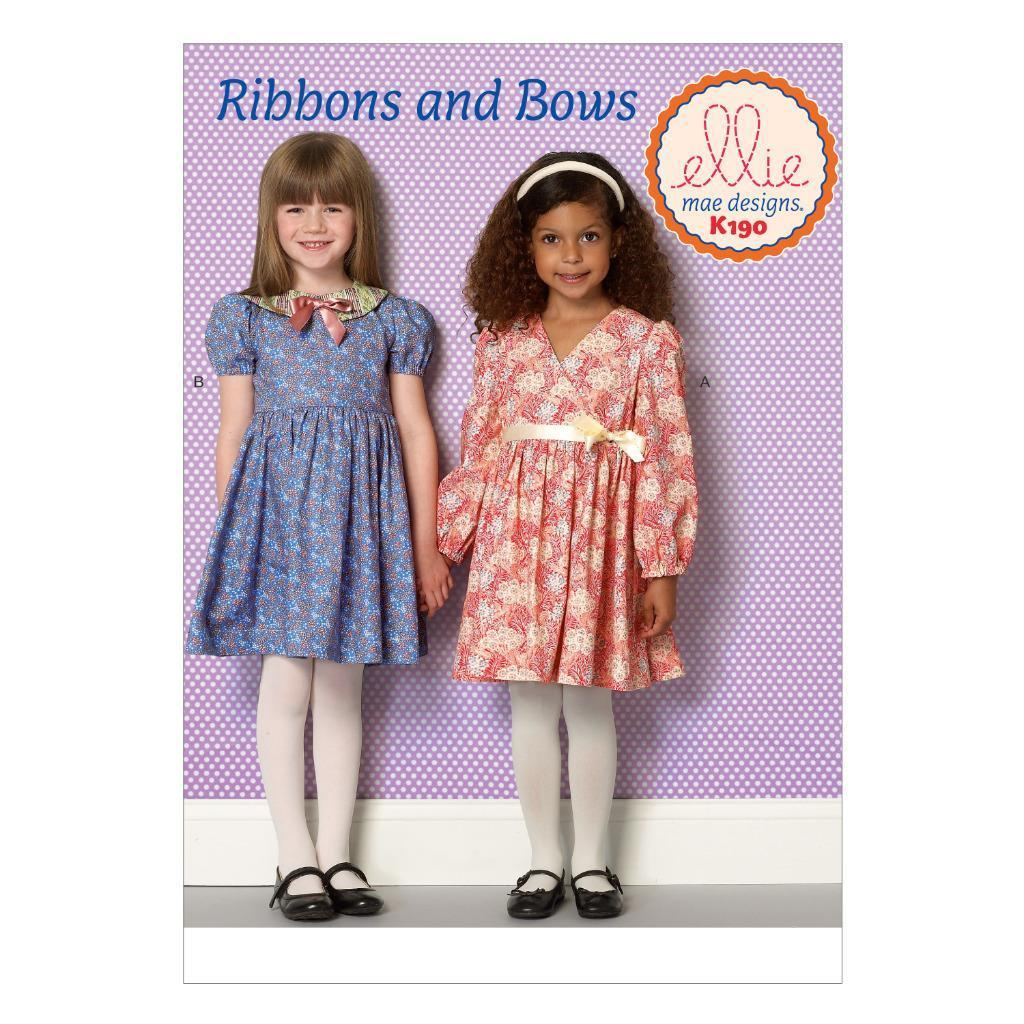 Kwik Sew - Ribbons And Bows by Ellie Mae Designs (Childrens) - Frumble Fabrics