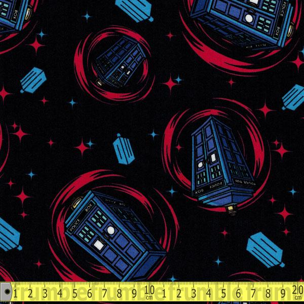 Doctor Who Phone Booth Blue - Frumble Fabrics