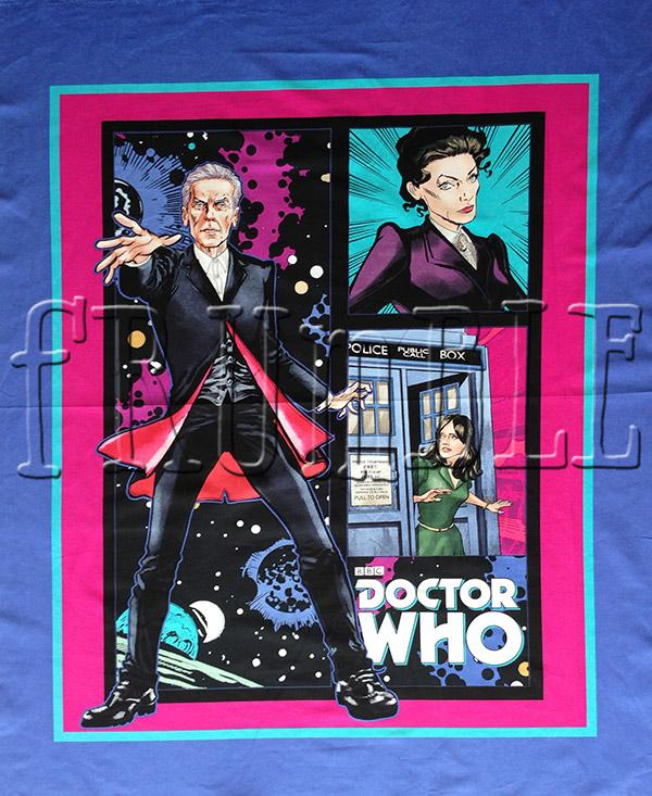 Doctor Who Telephone Box Panel Fabric by Springs Creative