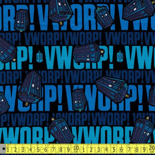 Doctor Who Worp Worp Blue Fabric by Springs Creative