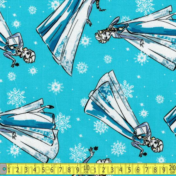 Frozen Sketch Elsa Blue Fabric by Springs Creative