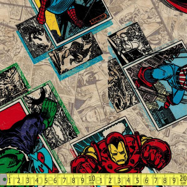 Marvel Avengers Retro Badge Fabric by Springs Creative