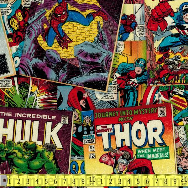 Marvel Retro Comic Covers Multi Fabric by Springs Creative