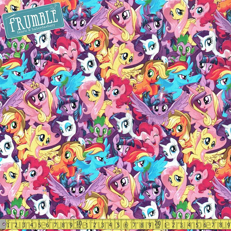 My Little Pony Packed Pony Magic Fabric by Springs Creative