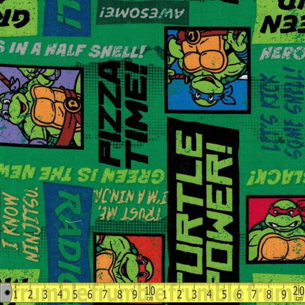 TMNT Trust Me Im A Ninja Green Fabric by Springs Creative