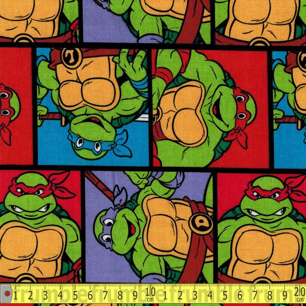 TMNT Turtle Patch Multi Fabric by Springs Creative