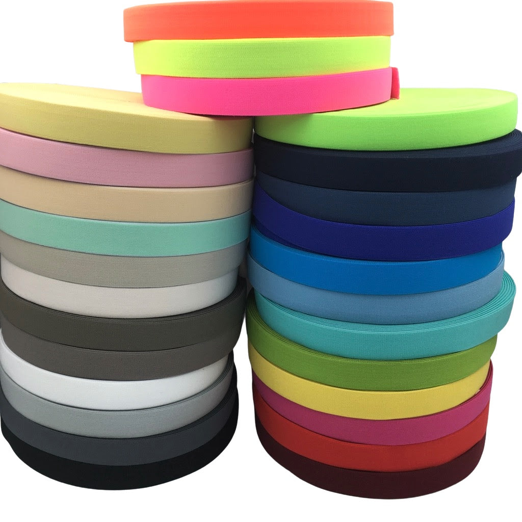 25mm Wide Soft Waistband Elastic (27 Colours) - Frumble Fabrics