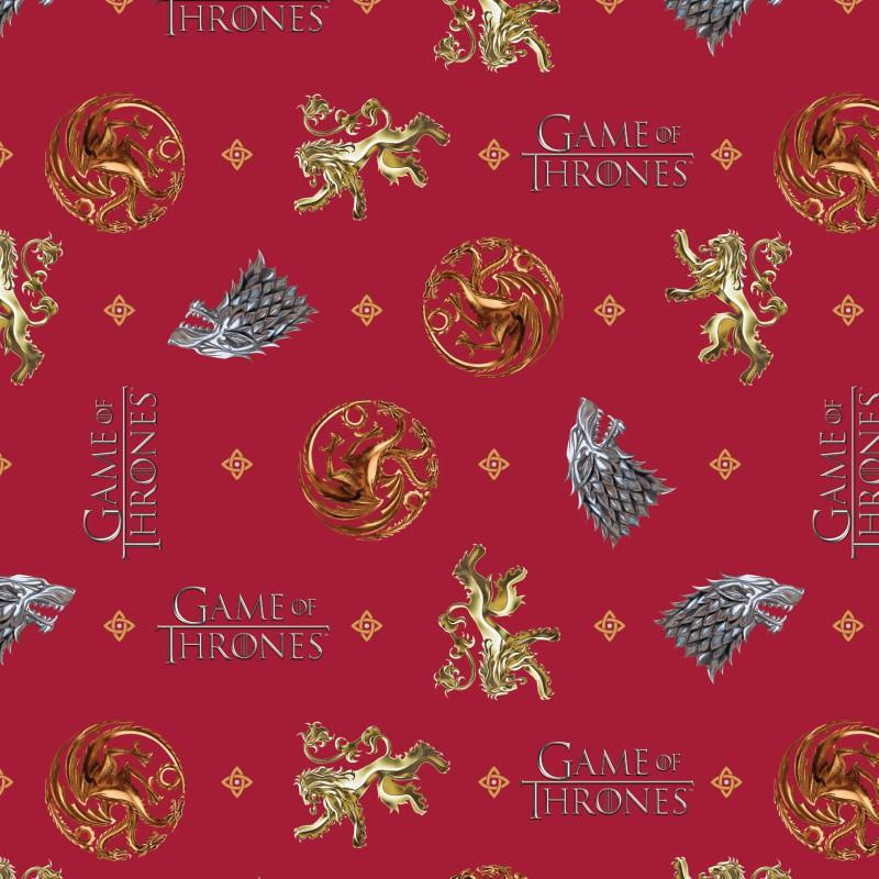 Game Of Thrones You Win Or You Die Fabric by Springs Creative