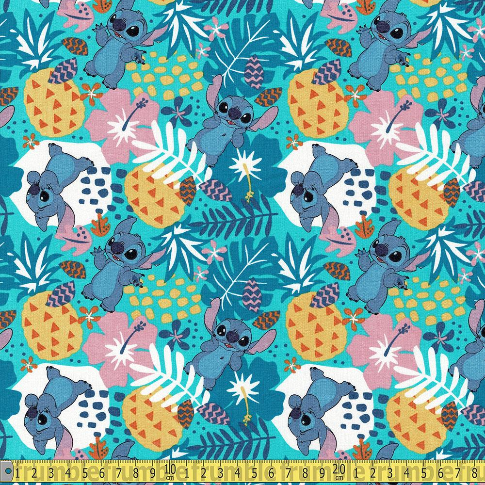 Springs Creative - Lilo And Stitch In The Jungle - Multi Sewing and Dressmaking Fabric